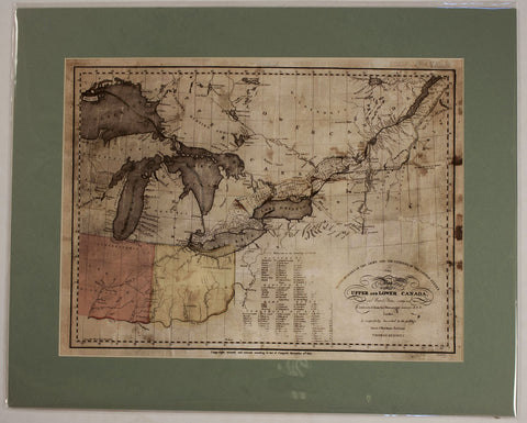 "1812 Thomas Kennett ""Map of Upper and Lower Canada"""