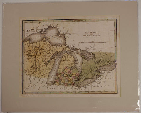 "1835 T.G. Bradford ""Michigan and the Great Lakes"""