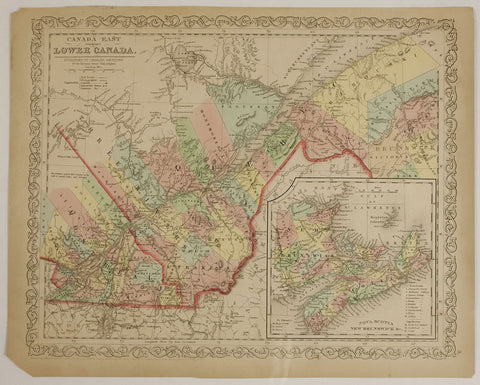 "1856 Charles Desilner ""Canada East Formerly Lower Canada"""