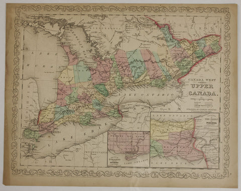 "1859 Charles Desilner ""Canada West Formerly Upper Canada"""