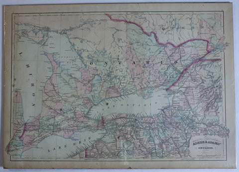 "1871 Asher & Adam's Map of ""Ontario"""