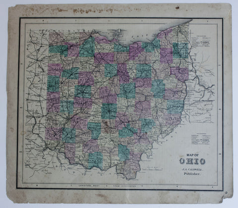 "1873 ""Map of Ohio"""