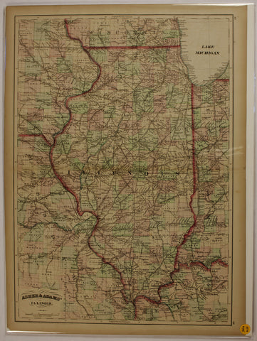"1874 Asher & Adams map of ""Illinois"""