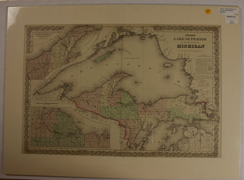 "1876 C.B Colton ""Colton's Lake Superior And the Upper Peninsula of Michigan"""