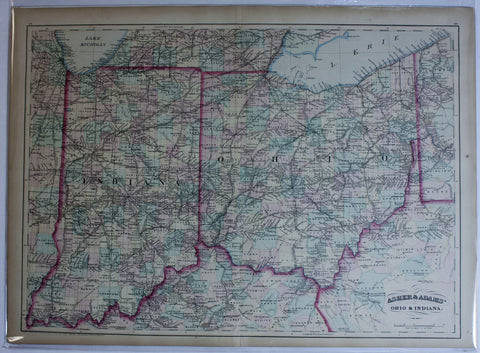 "1879 Asher & Adams ""Ohio & Indiana"""