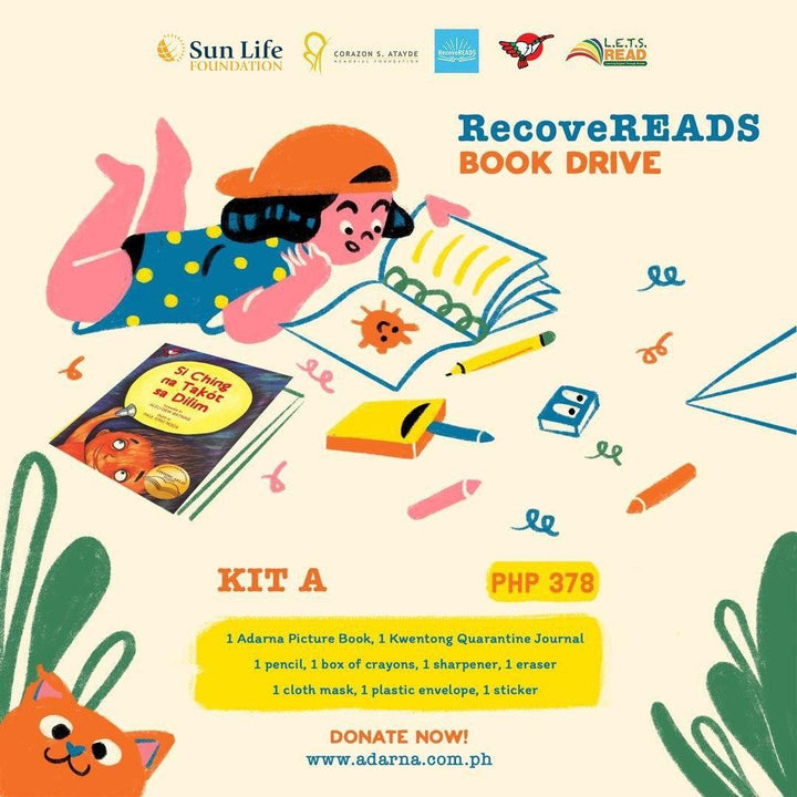 Donate to Recovereads - Kit A (1 Book + RecoveREADS Kit)