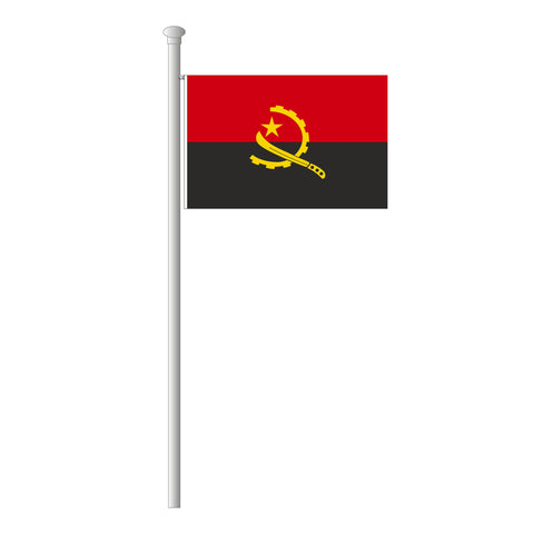 Angola Flagge Querformat