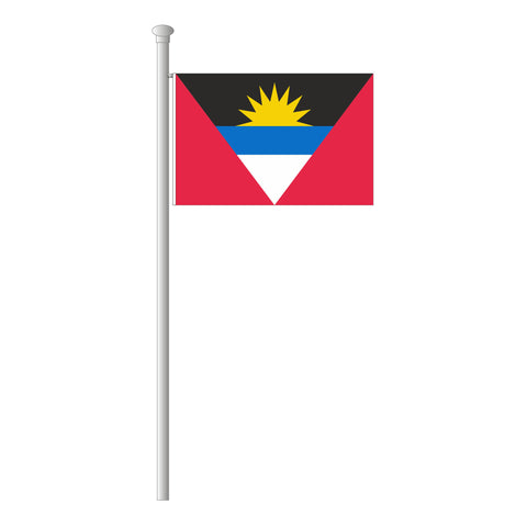 Antigua und Barbuda Flagge Querformat
