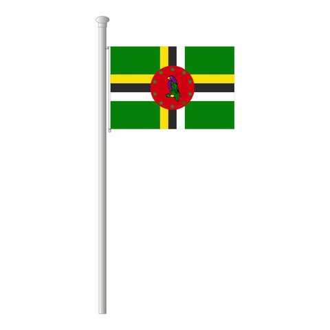 Dominica Flagge Querformat