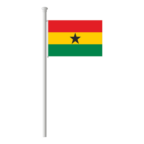 Ghana Flagge Querformat