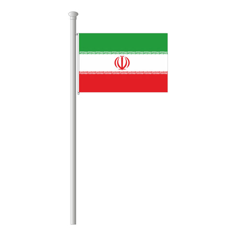 Iran Flagge Querformat