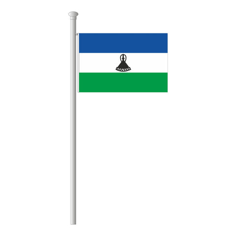 Lesotho Flagge Querformat
