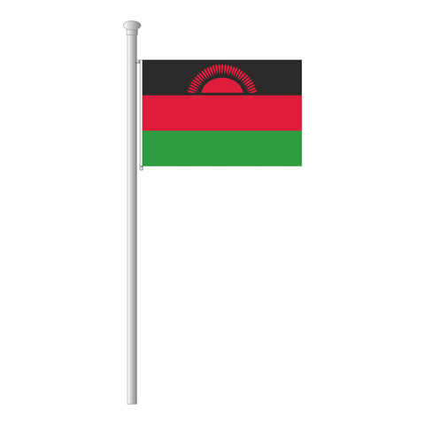 Malawi Flagge Querformat