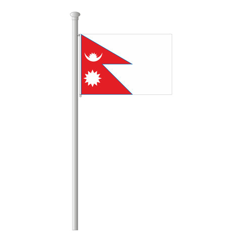 Nepal Flagge Querformat