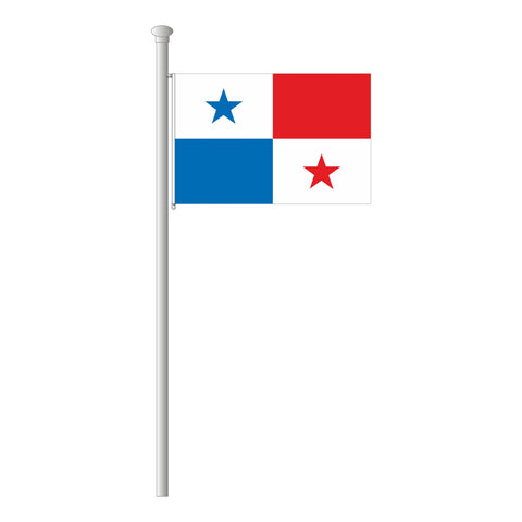 Panama Flagge Querformat
