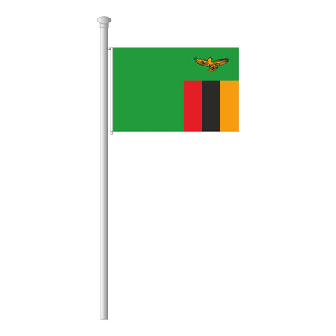 Sambia Flagge Querformat