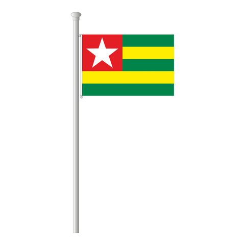 Togo Flagge Querformat