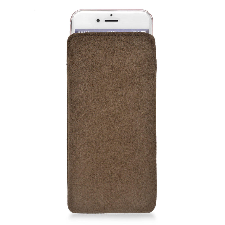 iPhone Alcantara Pouch Tawny - Wrappers UK