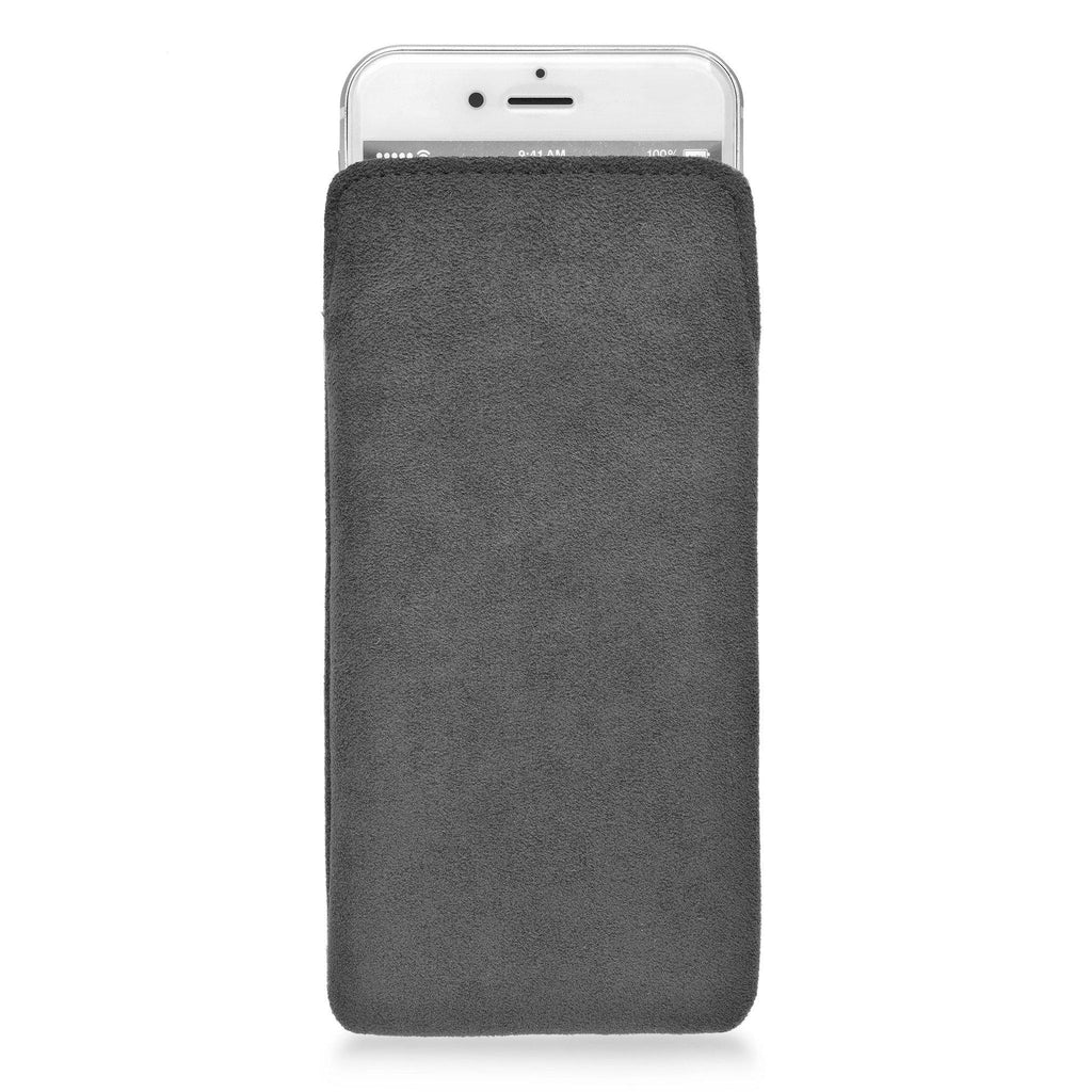 iPhone Alcantara Pouch Charcoal Grey - Wrappers UK