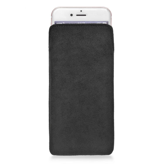 iPhone Alcantara Pouch Black - Wrappers UK