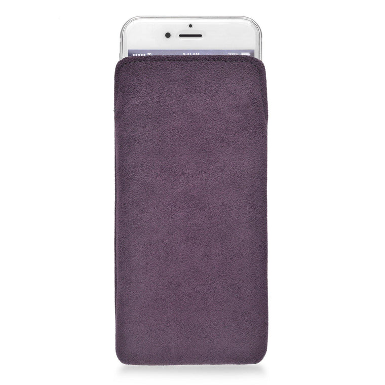 iPhone Alcantara Pouch Plum - Wrappers UK