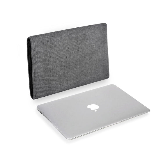 MacBook Linen Charcoal - Wrappers UK