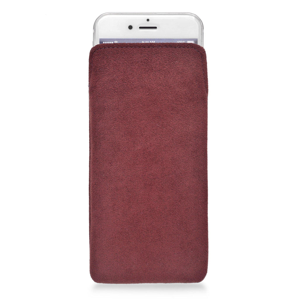 iPhone Alcantara Pouch Cranberry