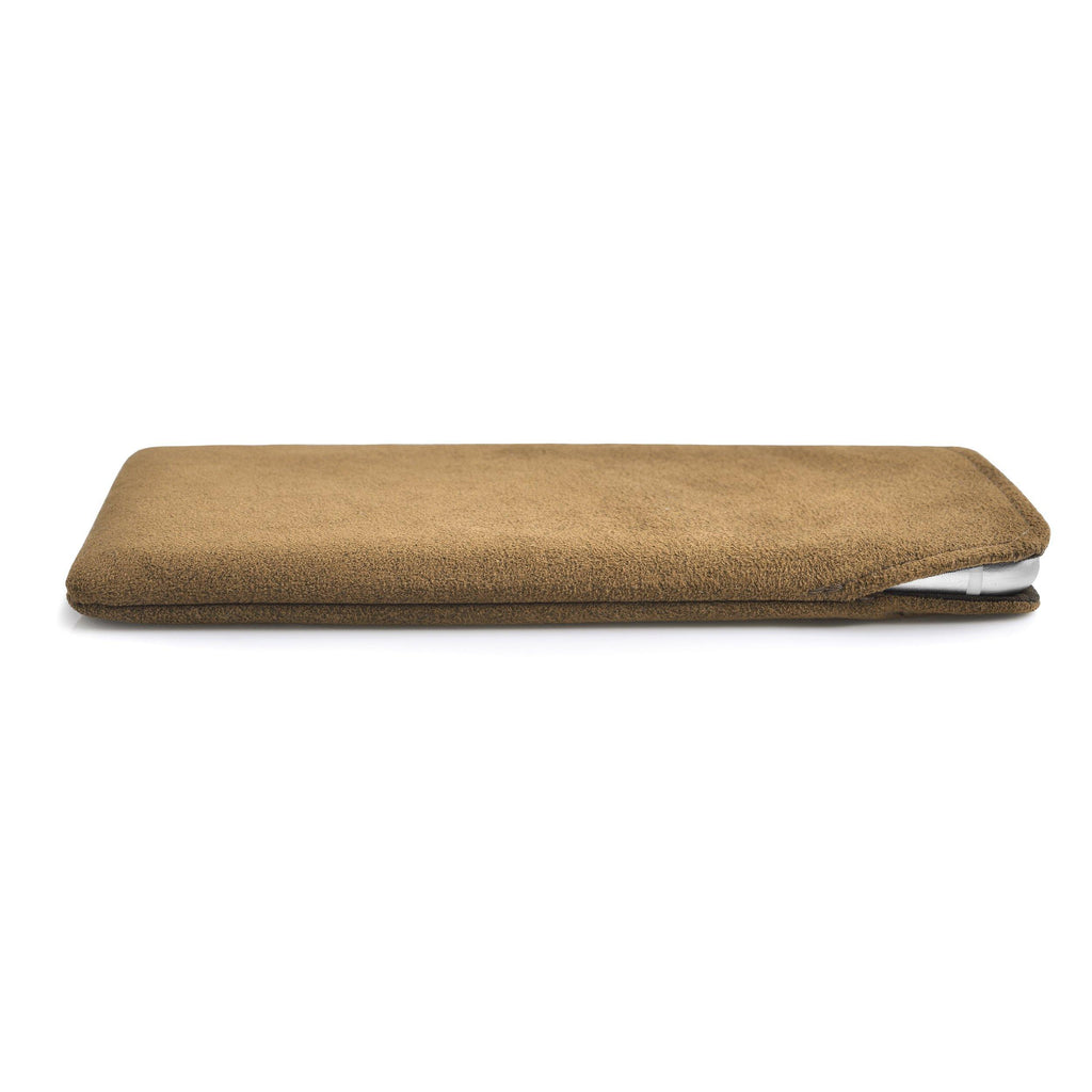 iPhone Alcantara Pouch Tan