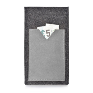 iPhone Wool Felt Cover Charcoal/Grey - Wrappers UK
