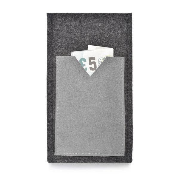 iPhone Wool Felt Cover Charcoal/Grey