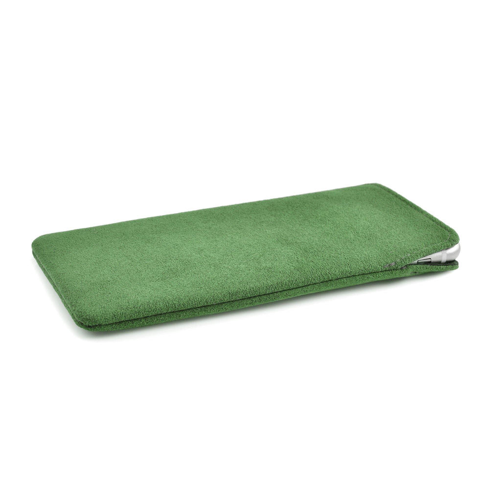 iPhone Alcantara Pouch Apple Green
