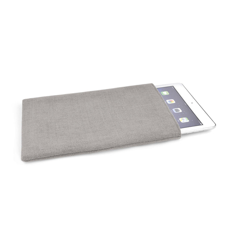 iPad Linen Silver Grey - Wrappers UK