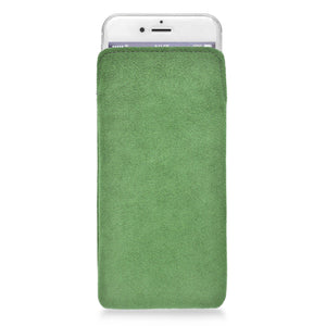 iPhone Alcantara Pouch Apple Green - Wrappers UK