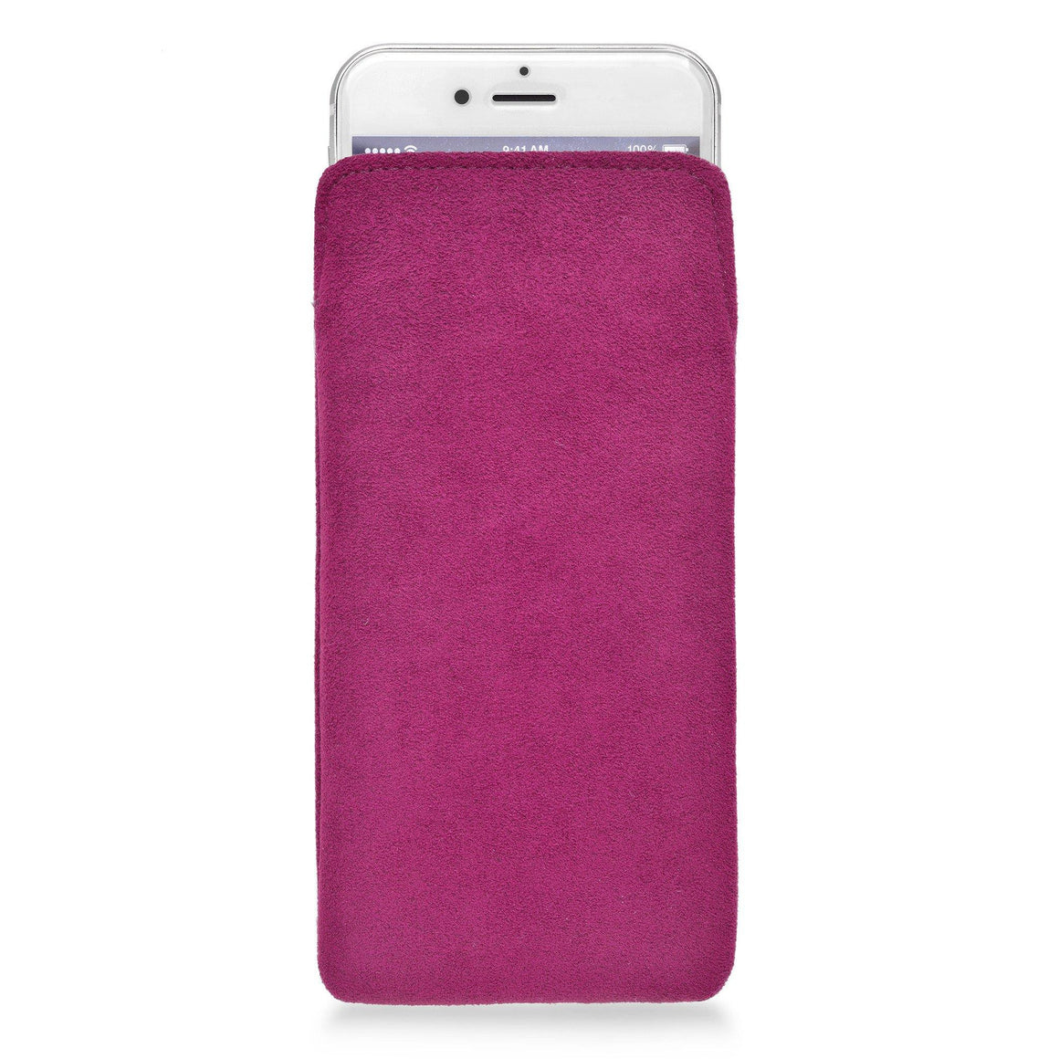 iPhone Alcantara Pouch Pink - Wrappers UK
