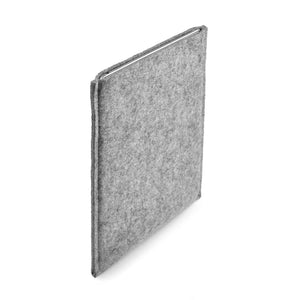 iPad Pro 12.9 inch Wool Felt Cover Grey Portrait - Wrappers UK