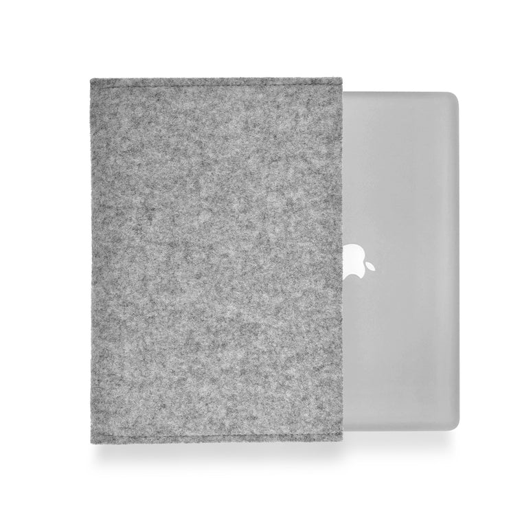 MacBook Wool Felt Grey Landscape - Wrappers UK