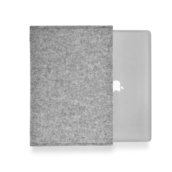 MacBook Wool Felt Grey Landscape