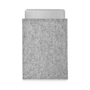 MacBook Pro 15 inch Wool Felt Grey Portrait - Wrappers UK