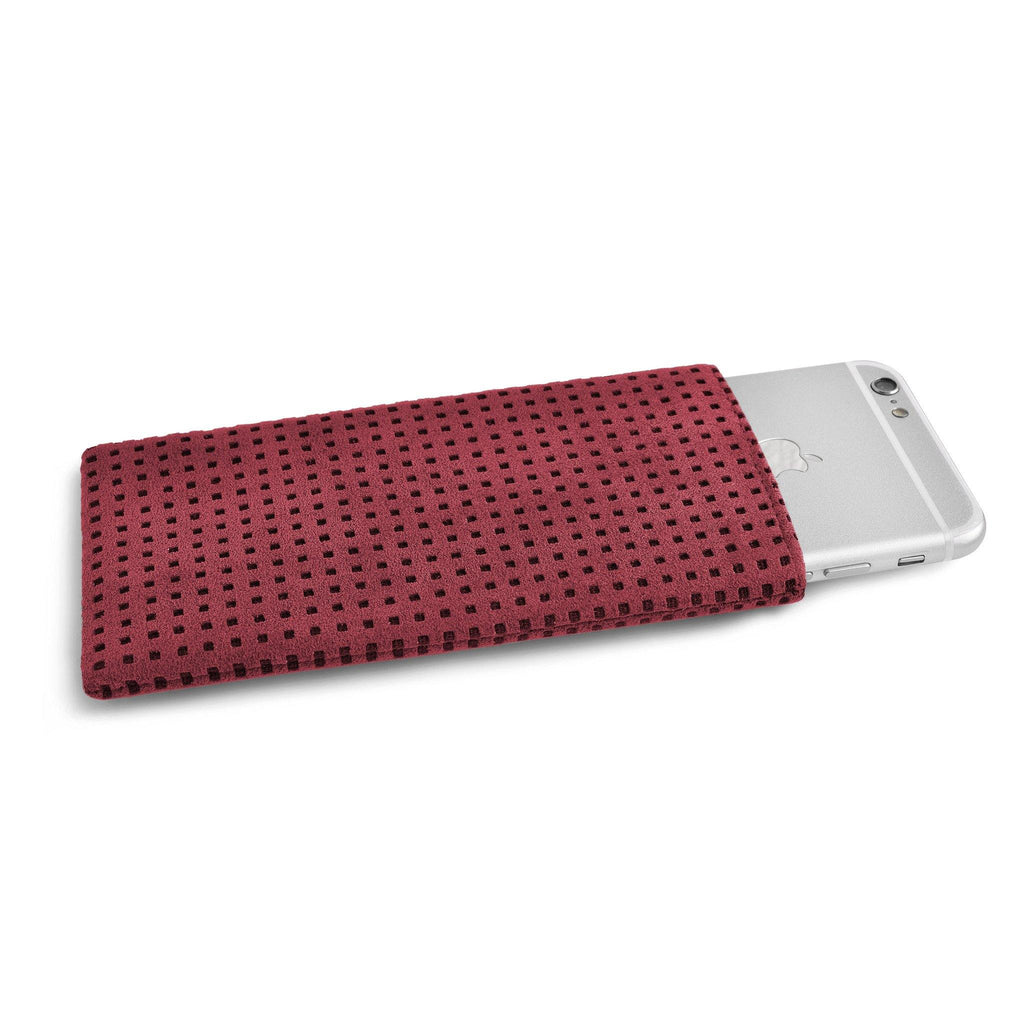iPhone Alcantara Slip-Case Maroon