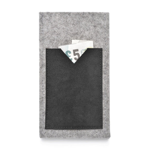 iPhone Wool Felt Cover Grey/Black