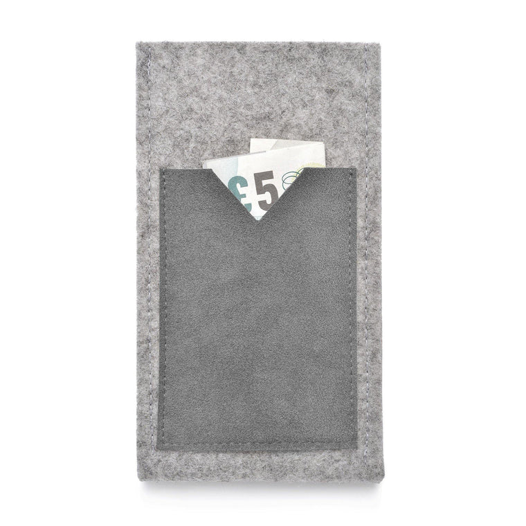 iPhone Wool Felt Cover Grey/Grey - Wrappers UK