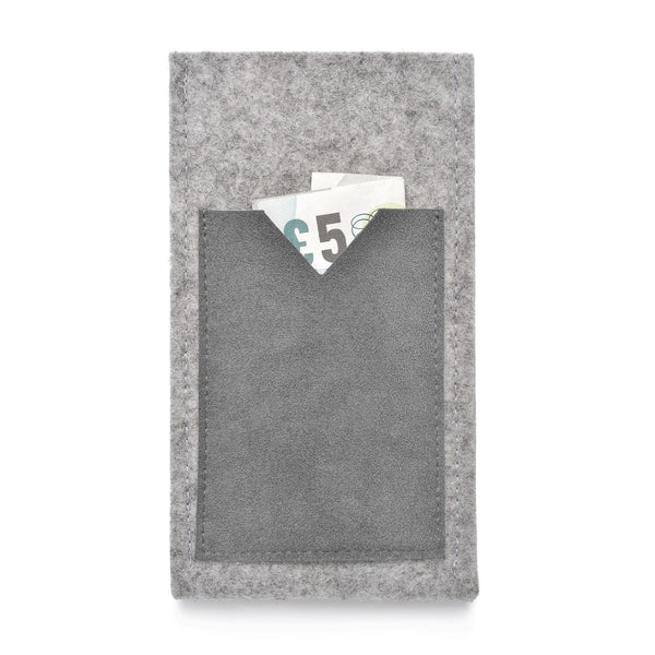 iPhone Wool Felt Cover Grey/Grey