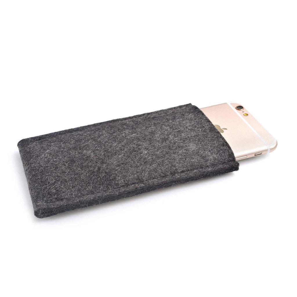 iPhone Wool Felt Cover Charcoal - Wrappers UK