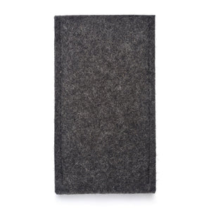 iPhone Wool Felt Cover Charcoal/Orange - Wrappers UK