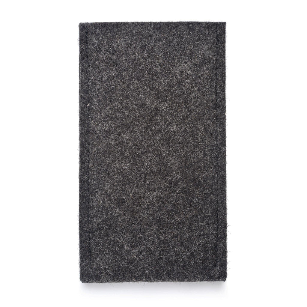 iPhone Wool Felt Cover Charcoal/Lilac