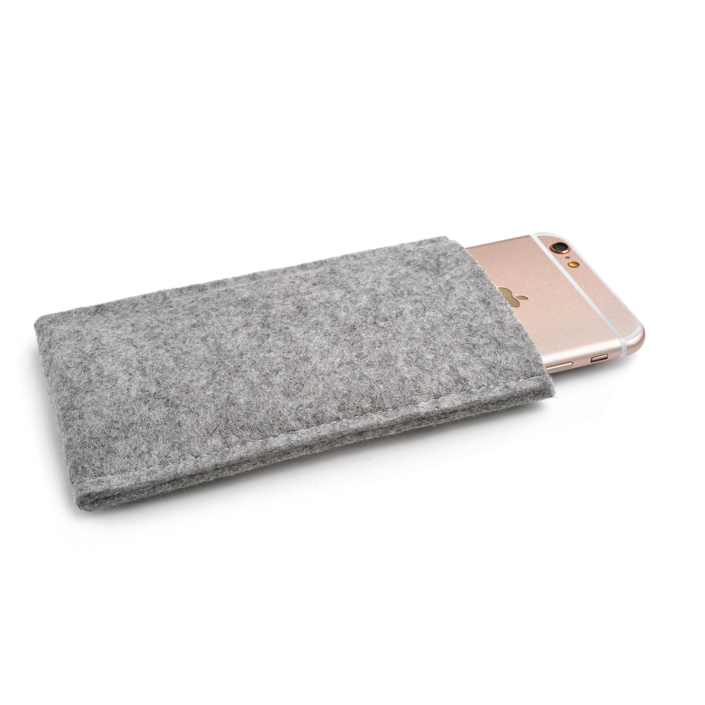 iPhone Wool Felt Cover Grey