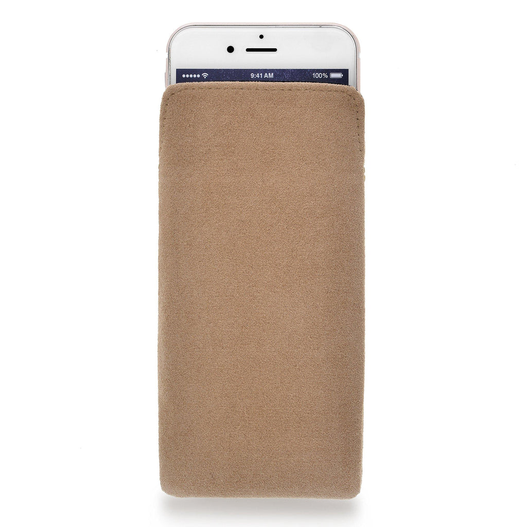 iPhone Alcantara Pouch Sand Rosé - Wrappers UK