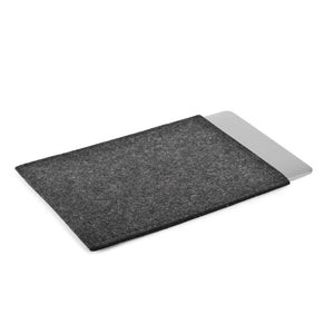 MacBook 12 inch Wool Felt Charcoal Portrait - Wrappers UK