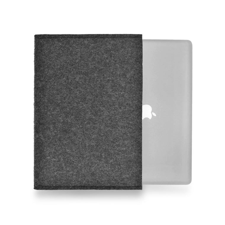MacBook Wool Felt Charcoal Landscape - Wrappers UK