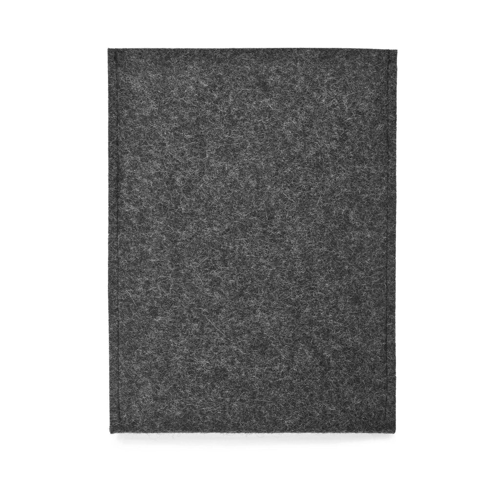 iPad Pro 10.5 Wool Felt Cover Charcoal Portrait - Wrappers UK